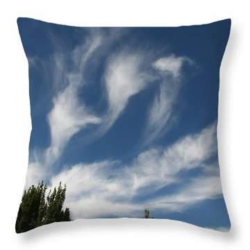Throw Pillow featuring the photograph Clouds by David S Reynolds