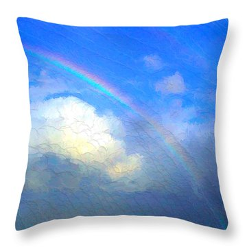 Clouds In Ireland Throw Pillow by Bruce Nutting