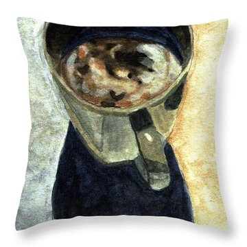 Clouds In My Coffee Throw Pillow by Angela Davies