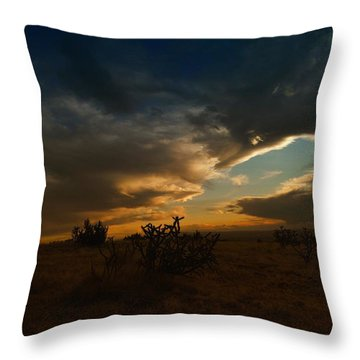 Clouds In New Mexico Throw Pillow by Jeff Swan