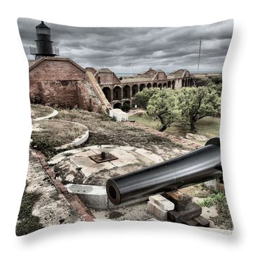 Clouds In The Keys Throw Pillow by Adam Jewell