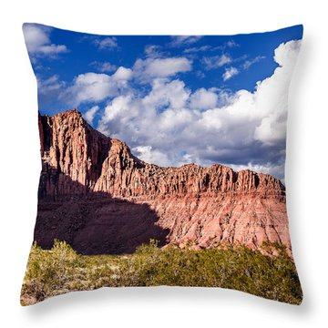 Clouds In Valley Of Fire Throw Pillow by  Onyonet  Photo Studios