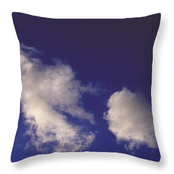 Throw Pillow featuring the photograph Clouds by Mark Greenberg