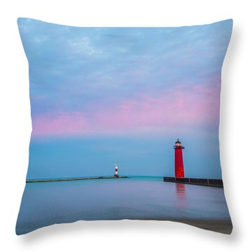 Clouds Of Cotton Candy Throw Pillow