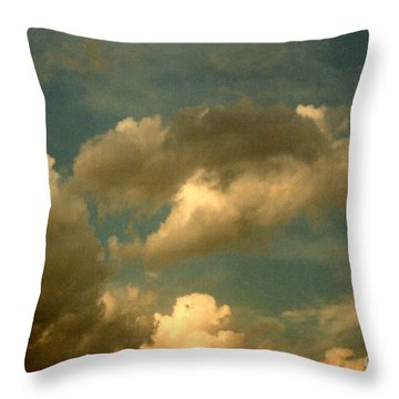 Clouds Of Yesterday Throw Pillow
