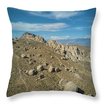 Clouds On Blue Sky Over Bishop Throw Pillow