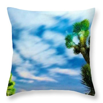 Clouds On The Move Throw Pillow by Angela J Wright