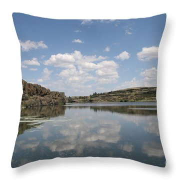 Clouds On Water Throw Pillow