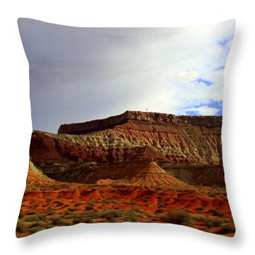Clouds Ove The Mesa Throw Pillow
