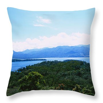 Clouds Over A Volcano, Arenal Volcano Throw Pillow by Panoramic Images