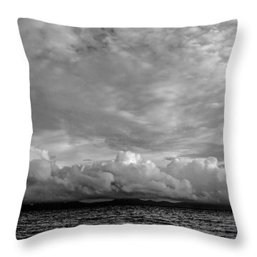 Clouds Over Alabat Island Throw Pillow