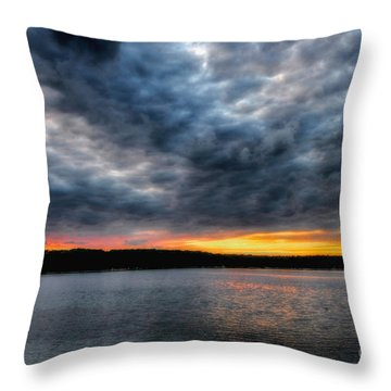 Throw Pillow featuring the photograph Clouds Over Big Twin Lake by Trey Foerster