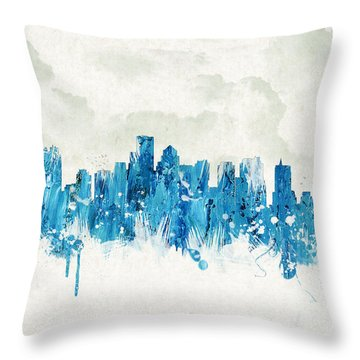 Clouds Over Boston Massachusetts Usa Throw Pillow by Aged Pixel