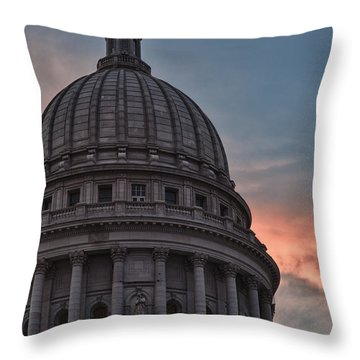 Clouds Over Democracy Throw Pillow