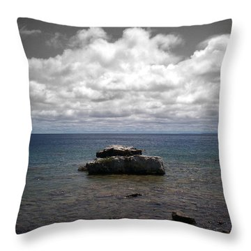 Clouds Over Georgian Bay - F2g Throw Pillow