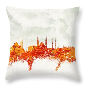 Clouds Over Istanbul Turkey Throw Pillow by Aged Pixel