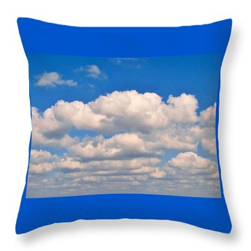 Clouds Over Lake Pontchartrain Throw Pillow