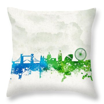 Clouds Over London England Throw Pillow by Aged Pixel