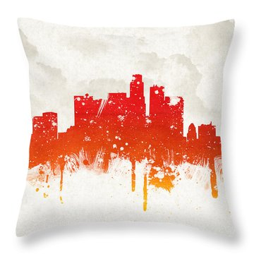 Clouds Over Los Angeles California Throw Pillow by Aged Pixel