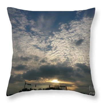 Clouds Over Maryland Throw Pillow by Emmy Marie Vickers