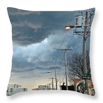 Clouds Over Philadelphia Throw Pillow