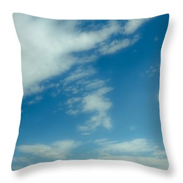 Clouds Over Priest Lake Throw Pillow by David Patterson