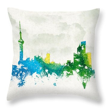 Clouds Over Shanghai China Throw Pillow by Aged Pixel