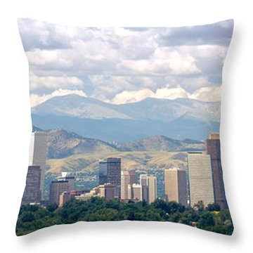 Clouds Over Skyline And Mountains Throw Pillow