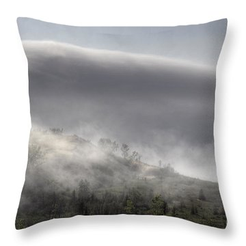 Throw Pillow featuring the photograph Clouds Over Sleeping Bear Dunes 1 by Trey Foerster