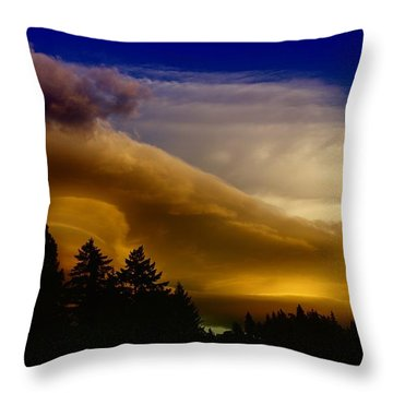 Clouds Over Southern Alberta Throw Pillow by Jeff Swan