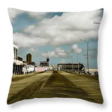 Clouds Over The Boardwalk Throw Pillow