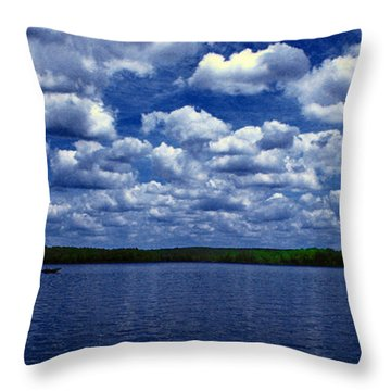 Clouds Over The Catawba River Throw Pillow by Andy Lawless