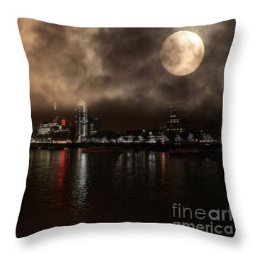 Victoria London  Throw Pillow
