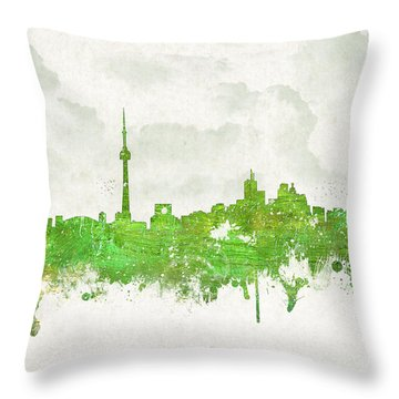 Clouds Over Toronto Canada Throw Pillow by Aged Pixel