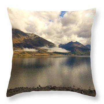 Throw Pillow featuring the photograph Clouds Over Wakatipu #1 by Stuart Litoff