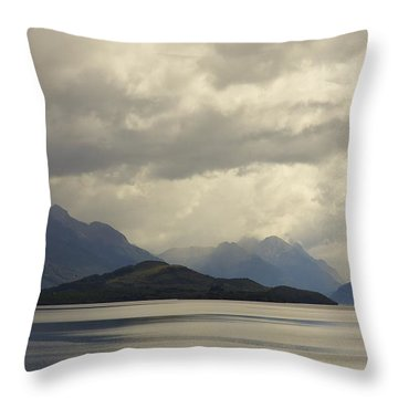 Throw Pillow featuring the photograph Clouds Over Wakatipu #2 by Stuart Litoff