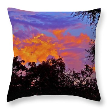 Clouds Throw Pillow by Pamela Cooper
