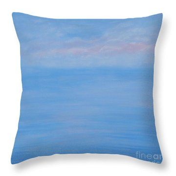 Clouds Pink And Ocean Throw Pillow