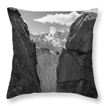 Clouds Revealed Throw Pillow