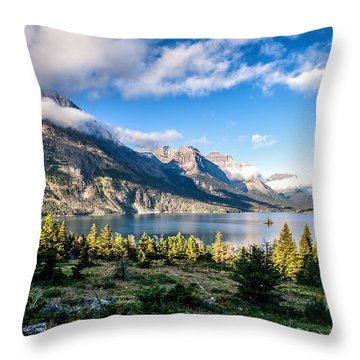 Clouds Roll In Throw Pillow