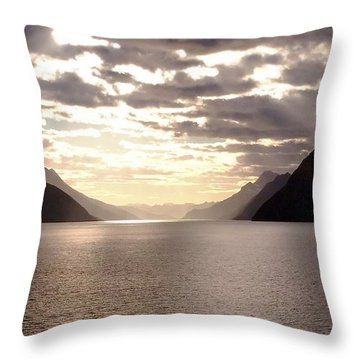 Clouds Throw Pillow by Vicky Tarcau