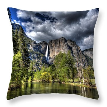 Cloudy Day In Yosemite Throw Pillow