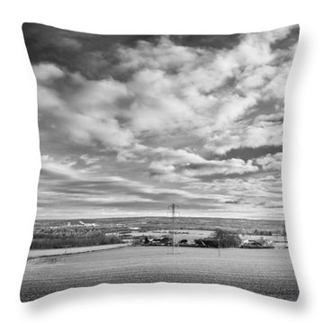 Throw Pillow featuring the photograph Cloudy Landscape by Gary Gillette