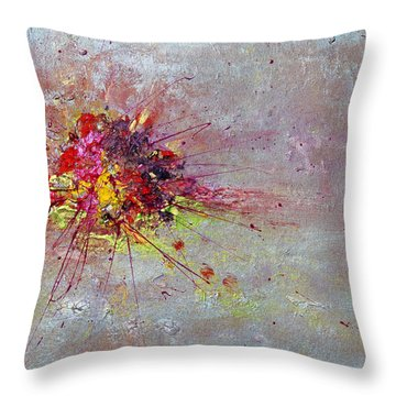 Cloudy Monday Abstract Painting Throw Pillow
