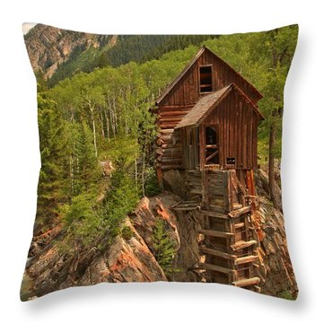 Cloudy Over Crystal Throw Pillow by Adam Jewell