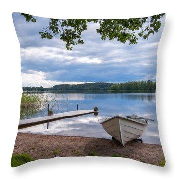 Cloudy Summer Day Throw Pillow
