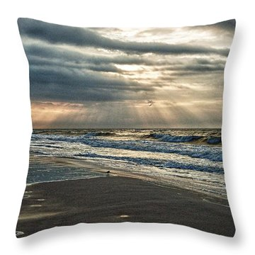 Cloudy Sunrise Throw Pillow by Michael Thomas