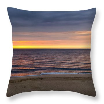 Cloudy Sunrise On Nauset Beach Throw Pillow