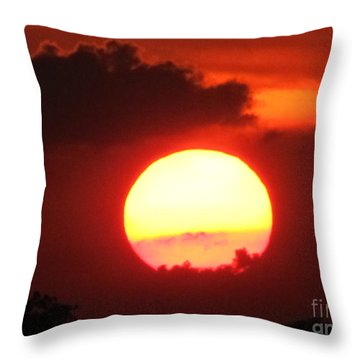 Cloudy Sunset 21 May 2013 Throw Pillow