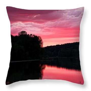 Cloudy Sunset Throw Pillow by Dave Files